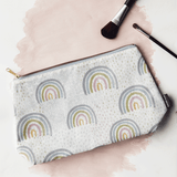 rainbow print wash bag