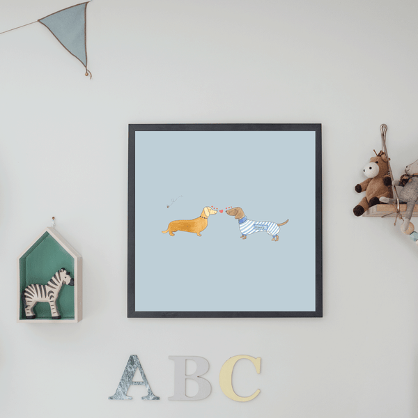 Sausage Dog Print Wall Art
