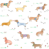 sausage dog print wallpaper