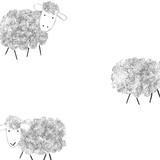 grey sheep design wallpaper, kids room, kids decor ideas - stil haven