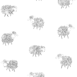 sheep print wallpaper for nursery