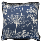 blue indigo cow parsley silk blue cushion limited edition luxury gifts - stil haven