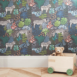 Stil Haven zebra print wallpaper for kids room