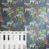 Stil Haven zebra safari print nursery wallpaper