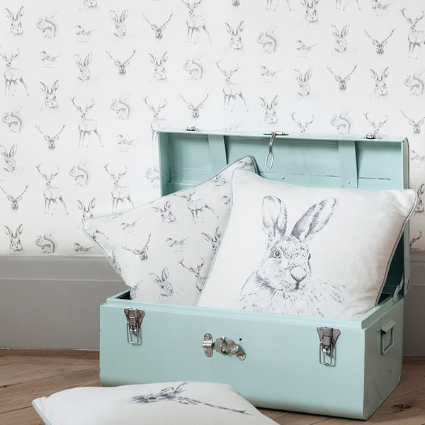 hare rabbit cushion - stil haven