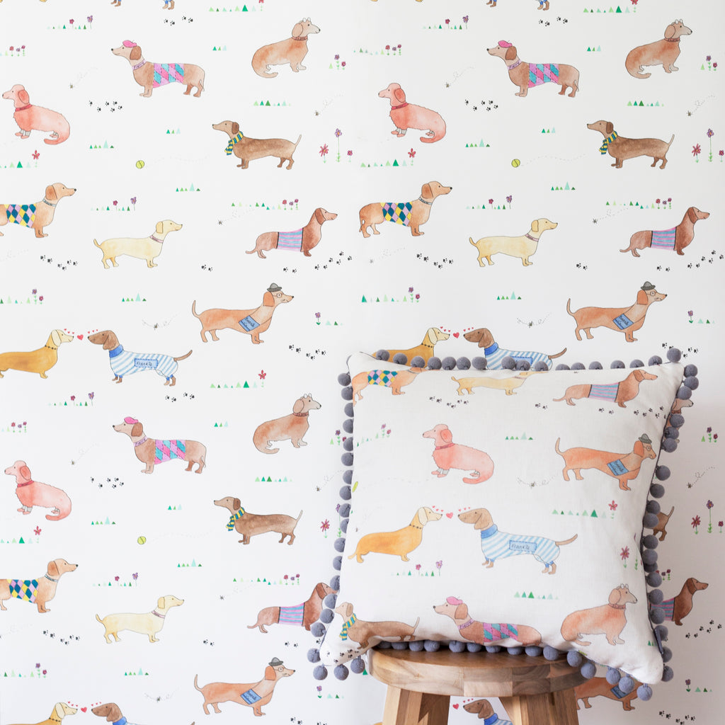 Personalised Sausage Dog Wallpaper