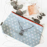 stil haven blue stag deer wash bag