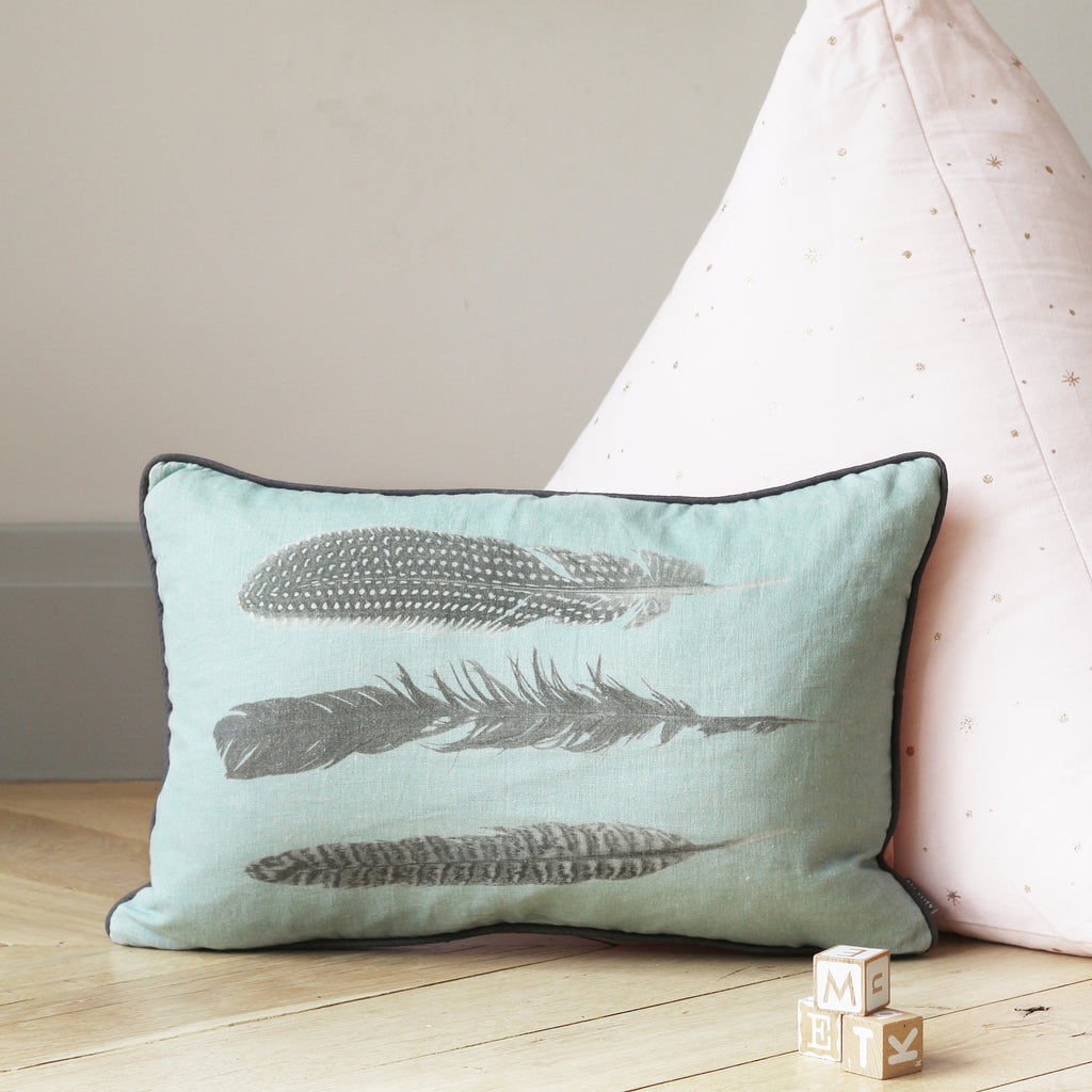 feather print cushion - stil haven