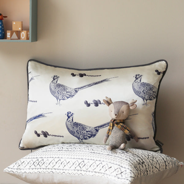 silk pheasant cushion - stil haven