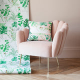 swan print blush tropical cushion