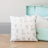 woodland animals deer print cushion  - stil haven