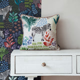 zebra white cushion tropical