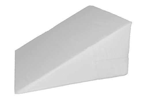 "Bed Wedge Cover – Wedge Pillow Replacement Cover with Zipper - 100% Cotton Replacement Pillowcase for Bed Wedges - Universal Fit for Wedges Up to 27"" Wide"