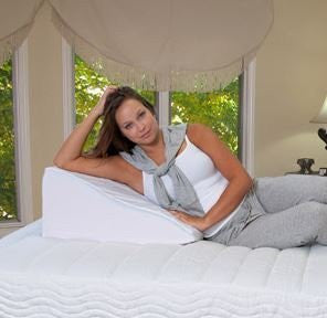 Bed Pillow with High Quality Removable Zippered Cover / Pregnancy Support