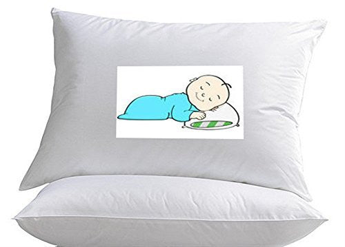 Toddler Pillow %100 Hypoallergenic By MoonRest - Soft and Supportive Pillows for Kids, Great for Sleep or Travel - Ages 2+ Made in the USA.