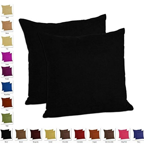 MoonRest - Set of 2 - Microfiber Decorative Pillow, Fully Assembled with Hidden Zipper