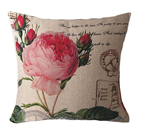 Cotton Linen Decorative Throw Pillow fully assumably
