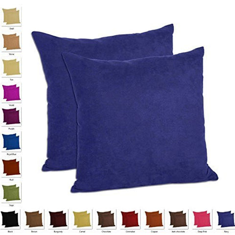 Pack of 2 - Microfiber Decorative Pillow - Multiple Sizes and colors