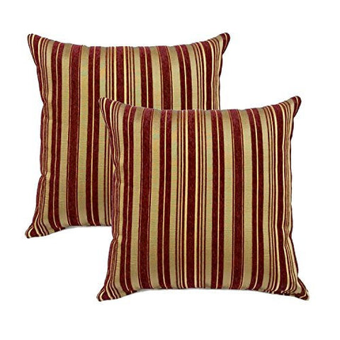 Multi-color Julius Stripe Decorative Pillow Cover (Set of 2)