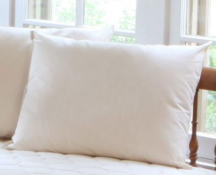 Organic bed Pillow, Natural Fabric - Hypoallergenic Down-Like Fill - Standard Pillow