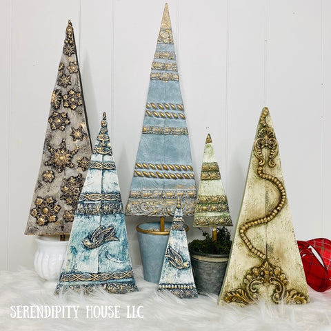 Wood Topiary Trees with IOD Moulds + DIY Paints