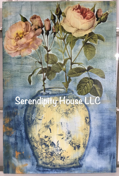 Flowers in Vase Workshop (Transfers, Stamps, Painting) Sept 14th