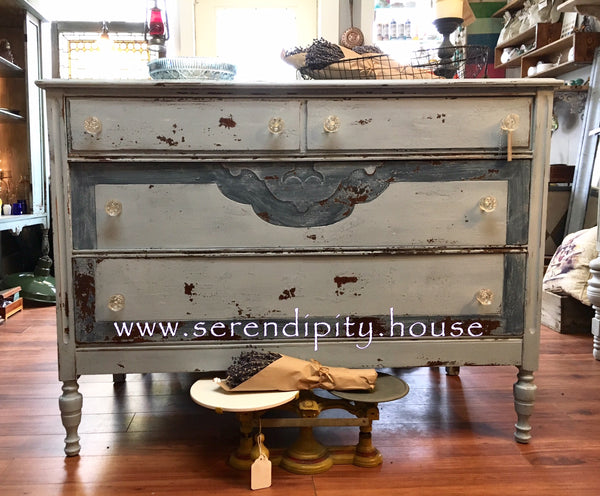 Milk Painted Bureau