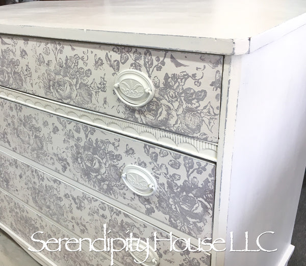 Stamped Cottage Bureau IOD DIY