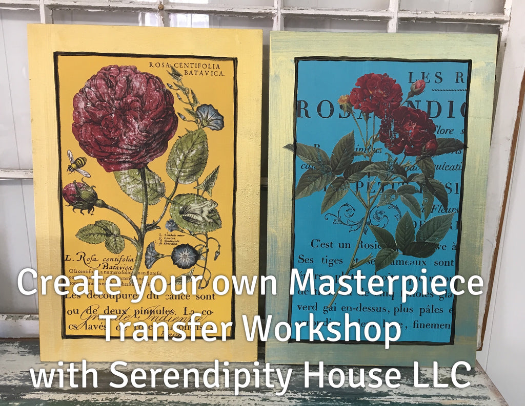 Transfer Workshop. Saturday April 13th at  10 AM