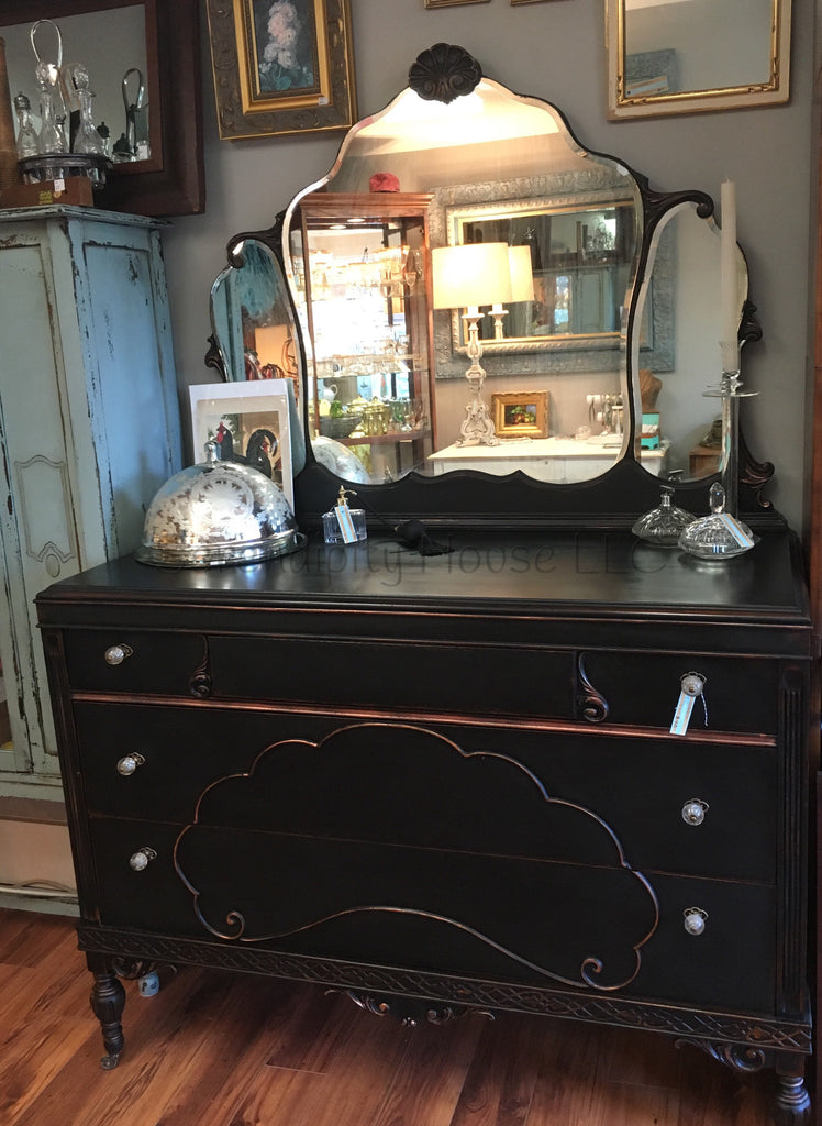 Antique Black Bureau L'Essentiel Botanics