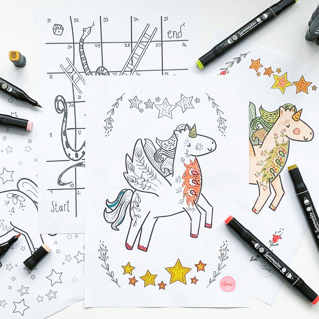 New! Moozle Colouring Pages