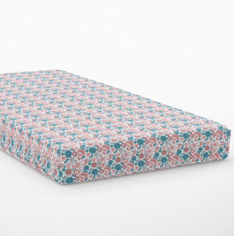 Moozle fitted single bed sheet - 1977 pastels