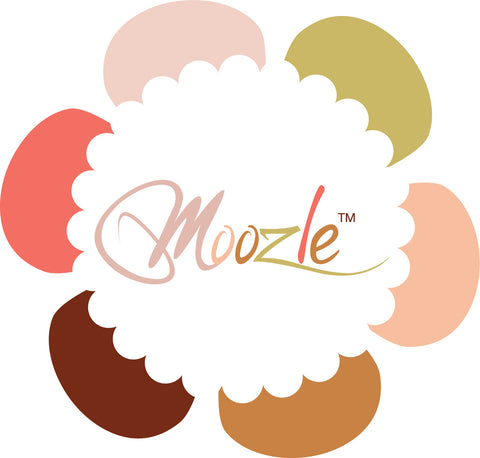 Moozle multi colour flower logo