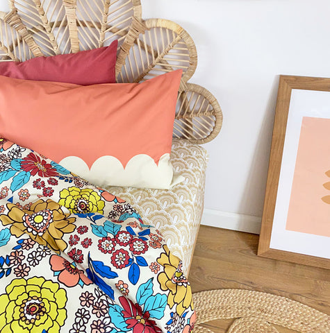 Scallop Pillowcase - Pillow Covers Online | Moozle