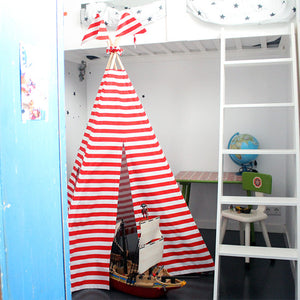 MIDI Teepee | Red and White Stripes