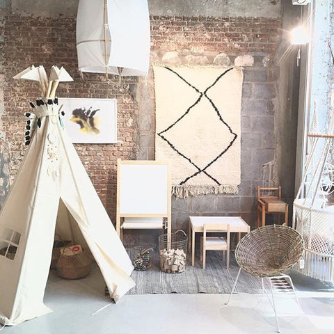 The BIG Moozle Teepee in Ecru unbleached cotton canvas.