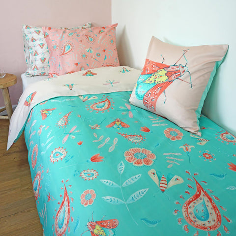 5 Piece Duvet Set - Folk Art Design