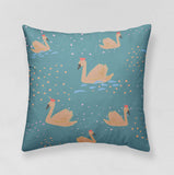 Cushion - Swans+Rainbows - Version 2