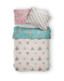 Moozle bedding set Folk Art organic cotton single bed duvet set printed