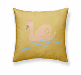 Cushion - Swans+Rainbows - Version 1