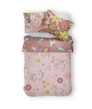 Load image into Gallery viewer, Moozle bedding set Unicorn Doodle organic cotton childrens duvet set