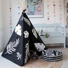 Load image into Gallery viewer, Black Teepee - Kids Teepee Tent | Moozle