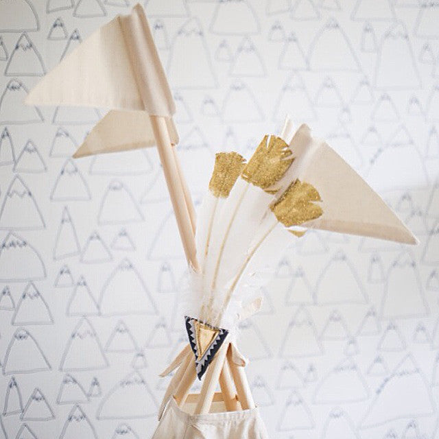 Teepee Topper | Feather Decoration