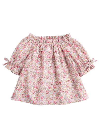 Bisby Millie Top | Pink Cottage Garden