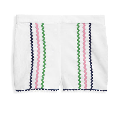 bella bliss Brinkley Shorts | White & Ric Rac