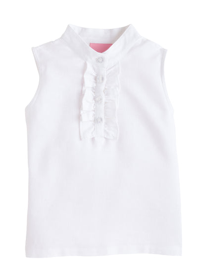 Bisby Henley Top | White