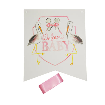 Over the Moon Welcome Girl Baby Hanger