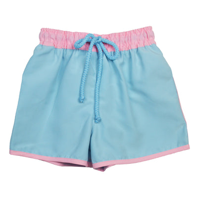 Grace & James Blue & Pink Swim Trunks