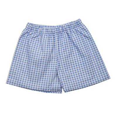James & Lottie Conrad Shorts | Blue Gingham