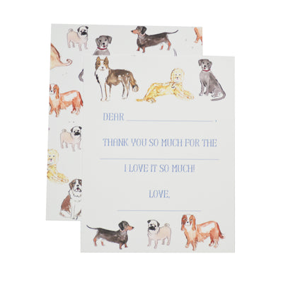 Over the Moon Puppy Dog Thank You Notecards